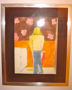 "Watercolor by Judy Pokras ""Englishman in the Loo."""