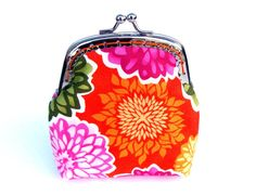Coin Purse  Bright Spring Flowers by Spule on Etsy