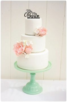 Wedding Cake Topper Monogram Mr and Mrs Topper Design Personalized with YOUR Last Name on Etsy, $30.00