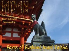 The kitsune statues are at times taken for a form of Inari, and they typically come in pairs, representing a male and a female. These fox statues hold a symbolic item in their mouths or beneath a front paw — most often a jewel and a key, but a sheaf of rice, a scroll, or a fox cub are all common. Almost all Inari shrines, no matter how small, will feature at least a pair of these statues, usually flanking or on the altar or in front of the main sanctuary.