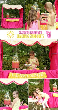 Here's A Classic Summer Idea Your Kids Will Love! Build a Fort Magic Lemonade Stand! The perfect fun and frosty way to spend a summer afternoon. Fort Building Kit, Build A Fort, Summer Fun, Summer Ideas, Fun Ideas, Fort Magic, Party Themes, Party Ideas, Teaching Kids