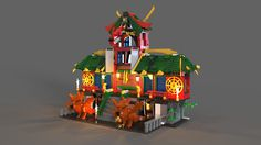 Lego ninja refuge, Julia Lusenko on ArtStation at https://www.artstation.com/artwork/WoG9J