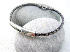Mens Bracelet Leather Bracelet Braided Bracelet For by pearlatplay