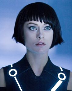 Quorra (Olivia Wilde) in Tron: Legacy. Love the haircut!