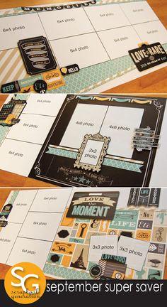 September Super Saver Scrapbooking layouts - scrapbook generation