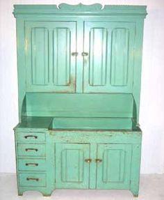 Amish Pine Blind Door Dry Sink Cupboard ca.1880