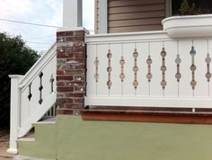 vintage flat sawn porch balusters Porch Balusters, Stair Railing, Stairs, Craftsman Bungalow Exterior, Craftsman Bungalows, House Outer Design, Indoor Railing, Ohio House, Cabin Porches