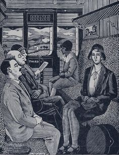 Tirzah Garwood: The Train Journey 1929-30 wood engraving