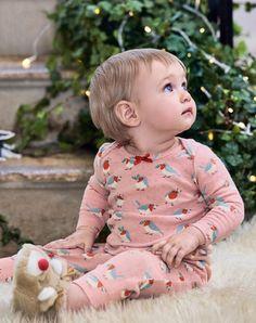Pyjama en coton mélangé imprimé à finitions pointelle, Boden,