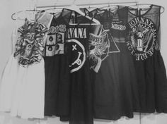 dresses from old band t-shirts