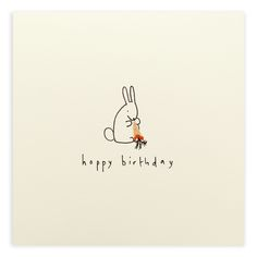 What better than a cuddly birthday bunny Creative Birthday Cards, Funny Birthday Cards, Handmade Birthday Cards, Birthday Greeting Cards, Creative Cards, Birthday Wishes, Card Birthday, Watercolor Birthday Cards, Watercolor Cards