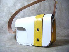 "ON SALE!!! Sunny Miss Sedgwick - Retro Cute ""It"" Girl yellow and white leather handbag by Joebobjim One of a kind unusual OOAK by JOEBOBJIM on Etsy https://www.etsy.com/listing/164862055/on-sale-sunny-miss-sedgwick-retro-cute"