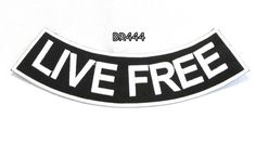 LIVE FREE Bottom Rocker for Biker Motorcycle Vest and Jacket Back Patch Biker Patches -- Awesome products selected by Anna Churchill