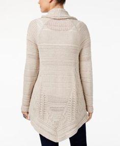 Style & Co Petite Shawl-Collar Cardigan, Created for Macy's - Tan/Beige P/XL