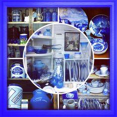Blue and White. McAffee Mercantile @Treasuresantiquemall #springville #utcounty