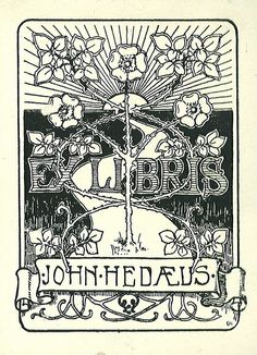 ≡ Bookplate Estate ≡ vintage ex libris labels︱artful book plates -