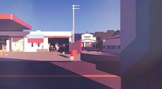 Japan by car, James Gilleard art, photography, design & disappointment [ ads via the deck ]  grafisch schilderij kunst