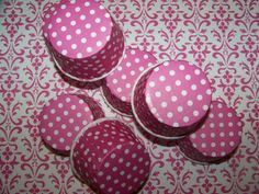 Treat Cups 12 Hot Pink/white stripe Cups Use For by shabbygirl2, $3.40