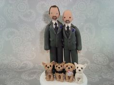 gay grooms cake topper with dogs Dog Cake Topper, Cake Toppers, Dog Wedding, Wedding Day, Grooms, Pet Portraits, Getting Married, Wedding Planning, Teddy Bear
