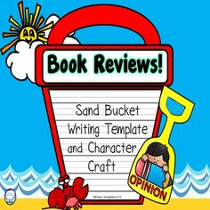 This book report writing template craft highlights opinions about the main character. 2nd 3rd 4th 5th grade students use this book review template craft to write opinions on their favorite character's traits! They will assign a trait and write their opinion of the proof.