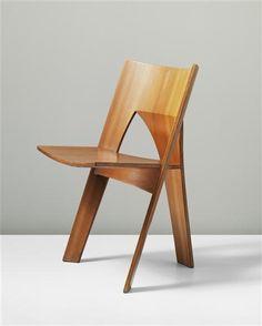 Nanna Ditzel, Oregon Pine Prototype Dining Chair, 1962.