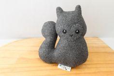 Squirrel Plushie - Grover by Fairweather Friends on Etsy. Handmade by Lauren Fairweather.