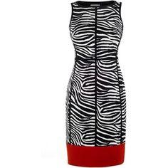 Karen Millen Archive zebra print panelled dress