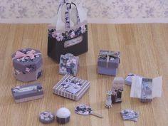 mini printable boxes and bags