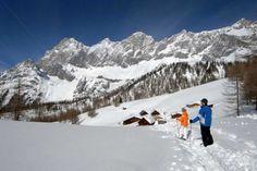 Snowshoeing around Ramsau