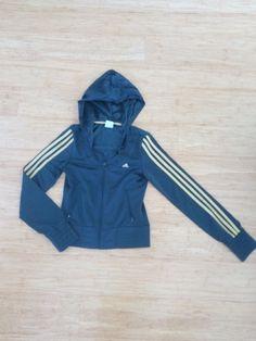 Veste de Survêtement noir or T.34 Adidas 20,00 € fitness sport sportswear femme women jacket black gold