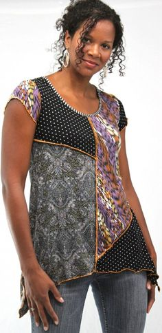 I like the piecing on this tunic from the Hand Jive Store