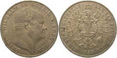 Brandenburg-Preußen Friedrich Wilhelm IV. 1840-1861. Taler 1859 A Winz. Randfehler, vorzüglich +