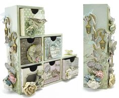 KaiserCraft - Bookend drawers - Bonjour collection