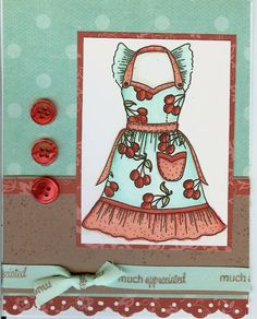 Copic Apron by - Cards and Paper Crafts at Splitcoaststampers Diy Arts And Crafts, Paper Crafts, Copics, Diy Cards, Embellishments, Apron, Stamps, Drink, Cooking