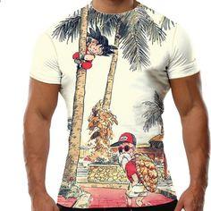 2018 Nya mode Toppar Drakeboll 3d tryckt Anime T-shirt Roliga t-shirtar för män  Kortärmad Polyester O-hals 6ec9337afc28a