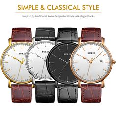 US $32.50 - Burei Men Watch Top Fashion Brand Male Real Leather Strap Large Dial Waterproof Clock Business Sapphire Lens Watches Hot Sale aliexpress.com