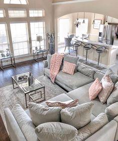 128 cozy living room decor ideas to copy 17 Glam Living Room, Living Room Decor Cozy, Living Room Interior, Home Interior Design, Home And Living, Modern Living, Small Living, Luxury Living, Living Room Goals