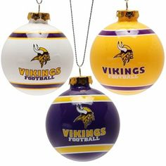 Minnesota Vikings 3-Pack Glass Ball Ornament Set Viking Shop 1b7d09f9b