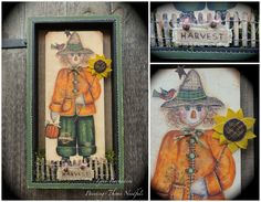 PAINTING THYME NEEDFULS: Harvest Scarecrow #decoartprojects #decorativepainting #americana