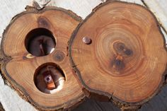 Wood Ring Bearer Box Pillow Rustic by MountainUrsusDesigns on Etsy