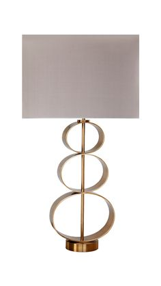 """""""Idmon"""" table lamp, bronze base with silk lampshade designed by Two Is Company. #luxury #handmade #furniture #design  #Greek #contemporary #bronze #brass #lamp #twoiscompany"""