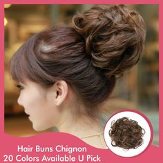 1PC Synthetic Hair Chignon Hairpieces curly Draw String Big Hair Bride Bun Ring Updo Clip In Hair