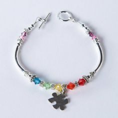 Autism Awareness Puzzle Piece Charm Bracelet