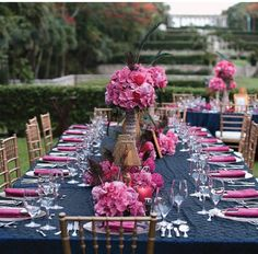 navy blue & pink obsession love this color combo