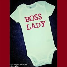 Boss Lady Funny Baby Clothes Funny T Shirts by LivAndCompanyShop, $14.00