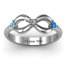 Three Stone Infinity Ring  --would be a cool mother's ring, seeing how I have 3 kids :)