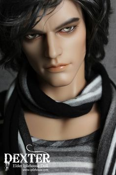 Ball jointed Doll, Deter by Iplehouse.  Wow!  Look at his jawline, his lips, that nose, and those eyes.  He might be the perfect male, unfortunately he's a doll.