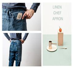 Linen chef apron www.notperfectlinen.com
