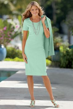 Linen-Blend Sheath Dress Petites   Chadwicks of Boston