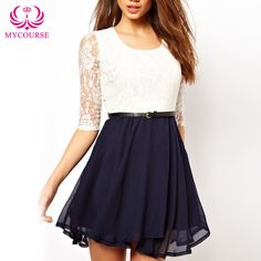 Find More Dresses Information about MYCOURSE 2016 Fashion Women Summer Clothing Lace Patchwork Party Dress Hollow Out Sleeve Dress Short Chiffon Mini Dress Vestidos,High Quality dress element,China dress singlet Suppliers, Cheap dress asos from MYCOURSE on Aliexpress.com